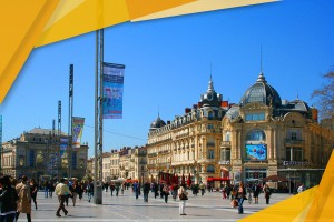 Place de la Comedie in Montpellier, France: a great place to learn french