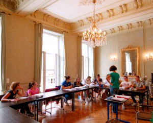 French language tuition in an elegant old french building